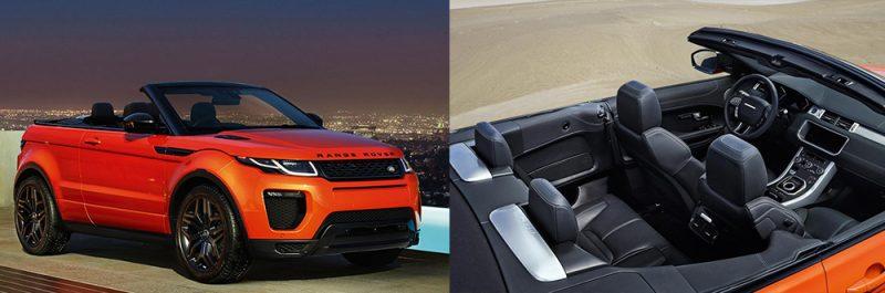 range rover evoque convertible interior exterior