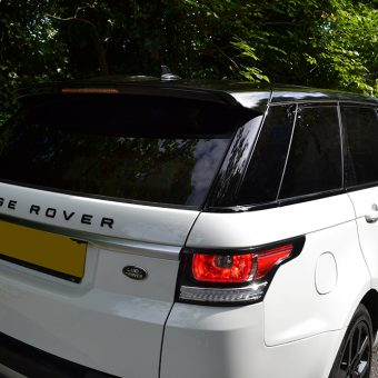 Range Rover Roof Wrap Close Up