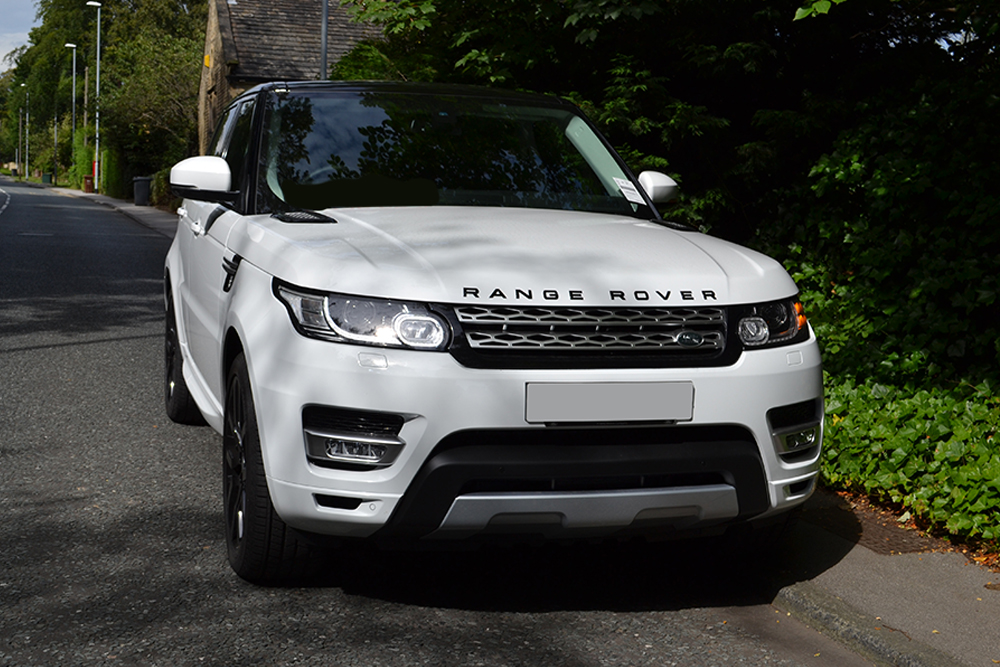 Range Rover Sport Roof Wrap Black Front