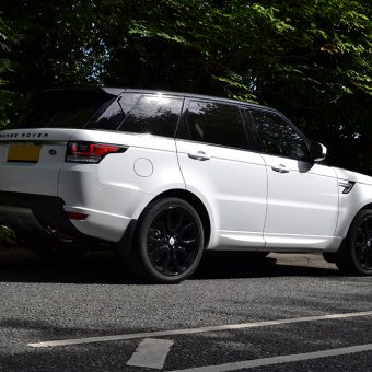 Range Rover Sport Roof Wrap Black Rear