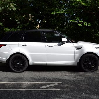 Range Rover Sport Roof Wrap Black Side View