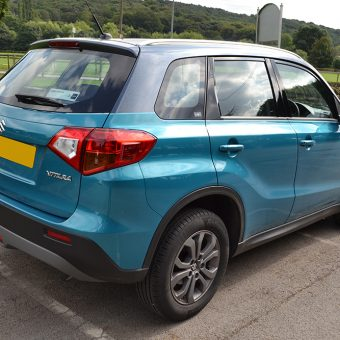 suzuki vitara metallic milky way rear angled