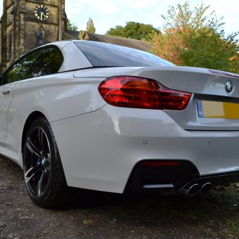 bmw m4 nardo grey rear angled
