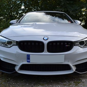 bmw m4 nardo grey wrap front end