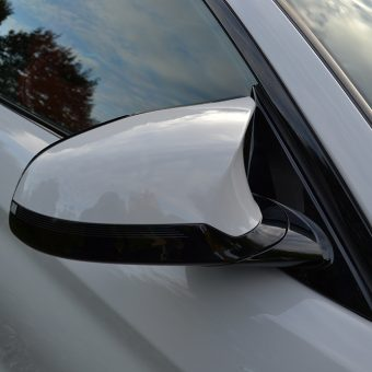 bmw m4 nardo grey wrap mirror covers