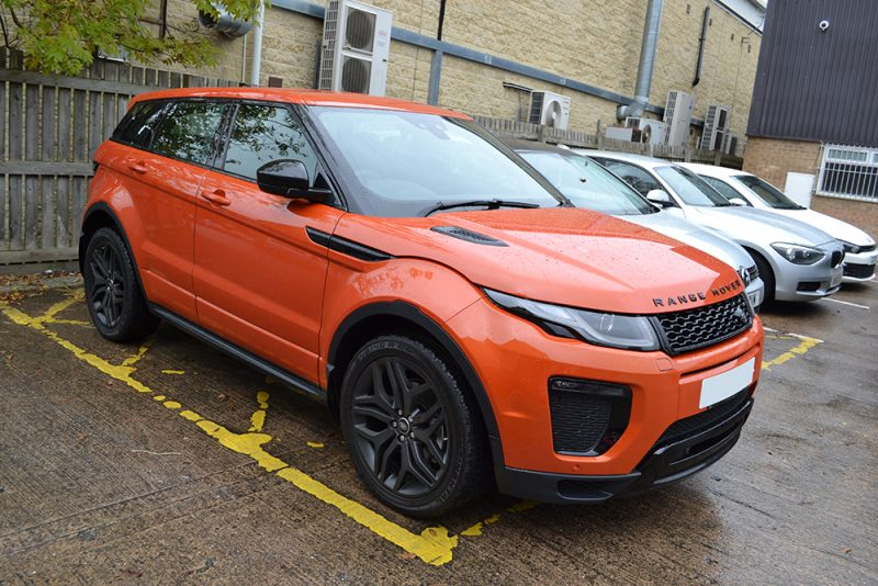 before evoque gloss black roof wrap