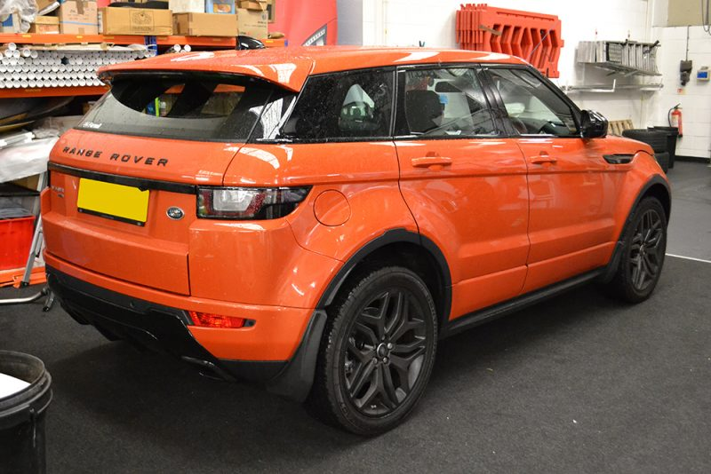 before roof wrap evoque