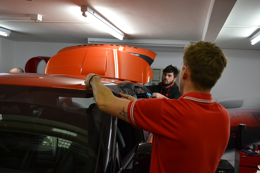 fitting evoque roof wrap
