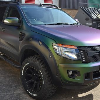 ford ranger wraptor reforma colourflow front angled
