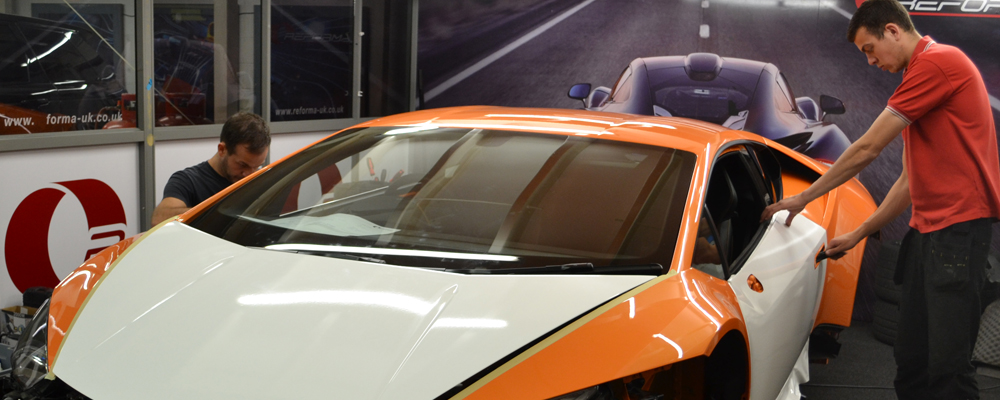 lee stephen wrapping lamborghini