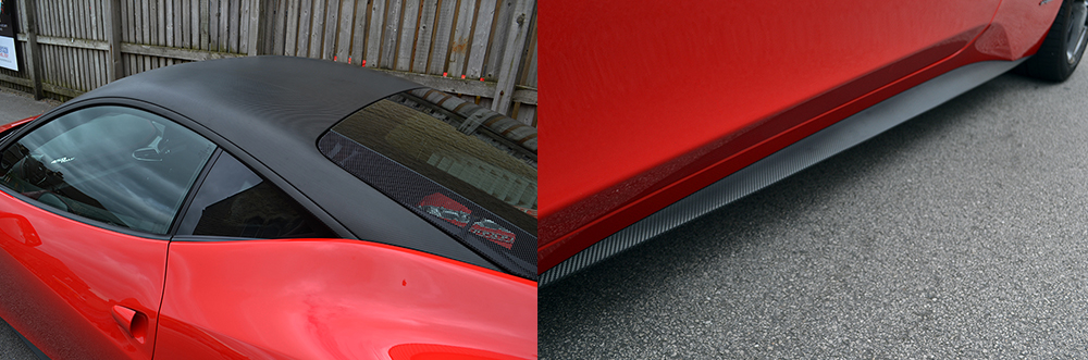 stephen reforma ferrari 458 roof wrap carbon
