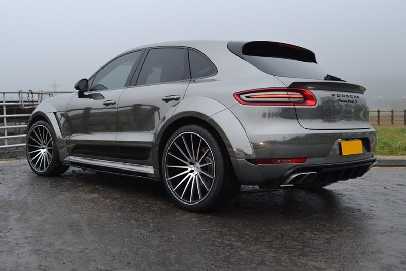Porsche Macan Chrome Wrap Rear Angle