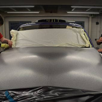 rolls royce phantom brushed bonnet wrapping