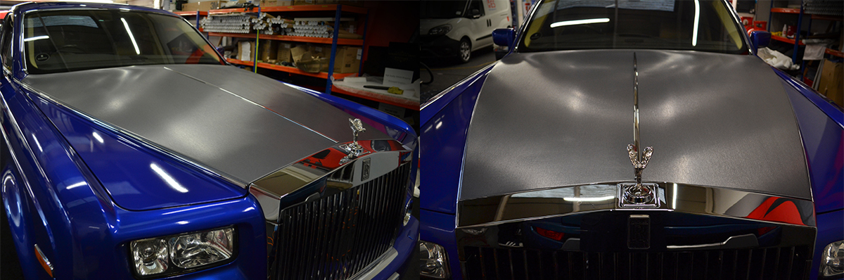 rolls royce phantom cosmic blue front bonnet brushed