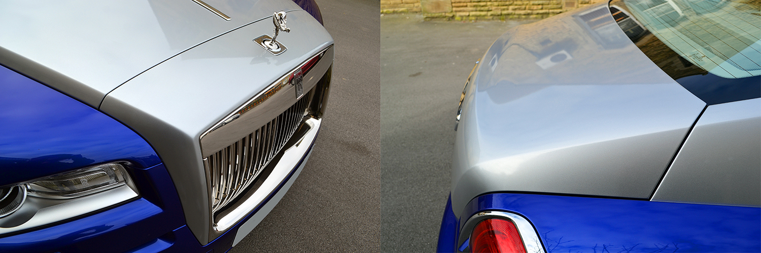 rolls royce wraith wrapped silver bits