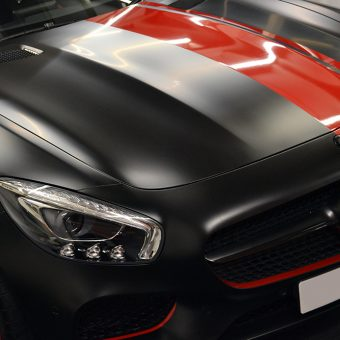 Mercedes SLS AMG 2017 Front Bonnet Stripe