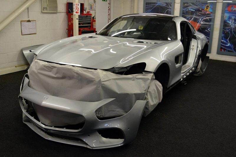 Mercedes SLS AMG During Wrap Front