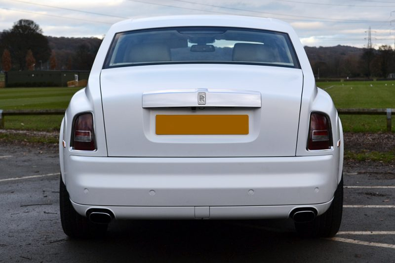 Rolls Royce Phantom 3M Frozen Vanilla Rear
