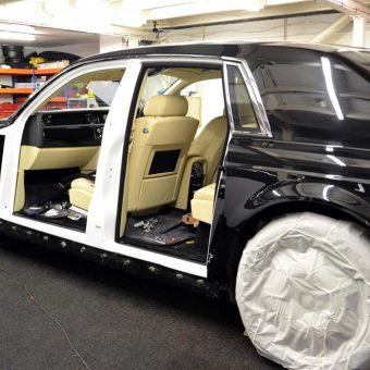Rolls Royce Phantom 3M Frozen Vanilla Wrapping Progress