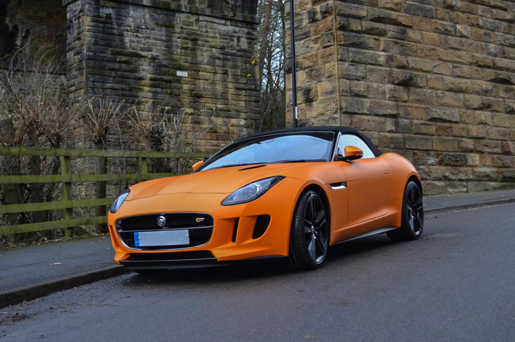 Jaguar F Type Matte Orange Reforma Uk
