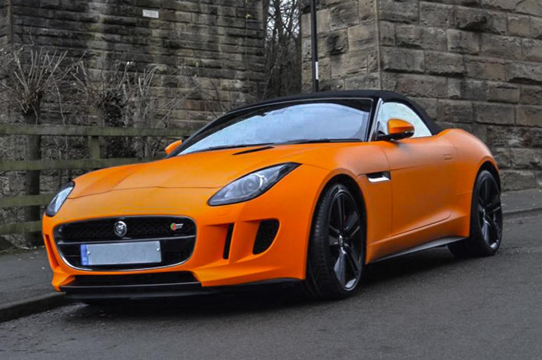 jaguar ftype matte orange reforma uk