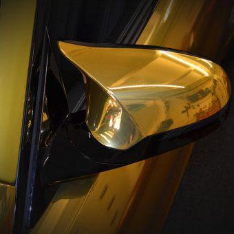 BMW M4 Chrome Gold Wingmirror Wrap