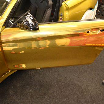 BMW M4 Chrome Wrap Before Door