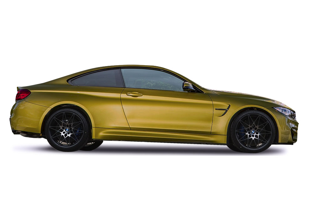 Before-BMW M4 Gold Chrome Wrap