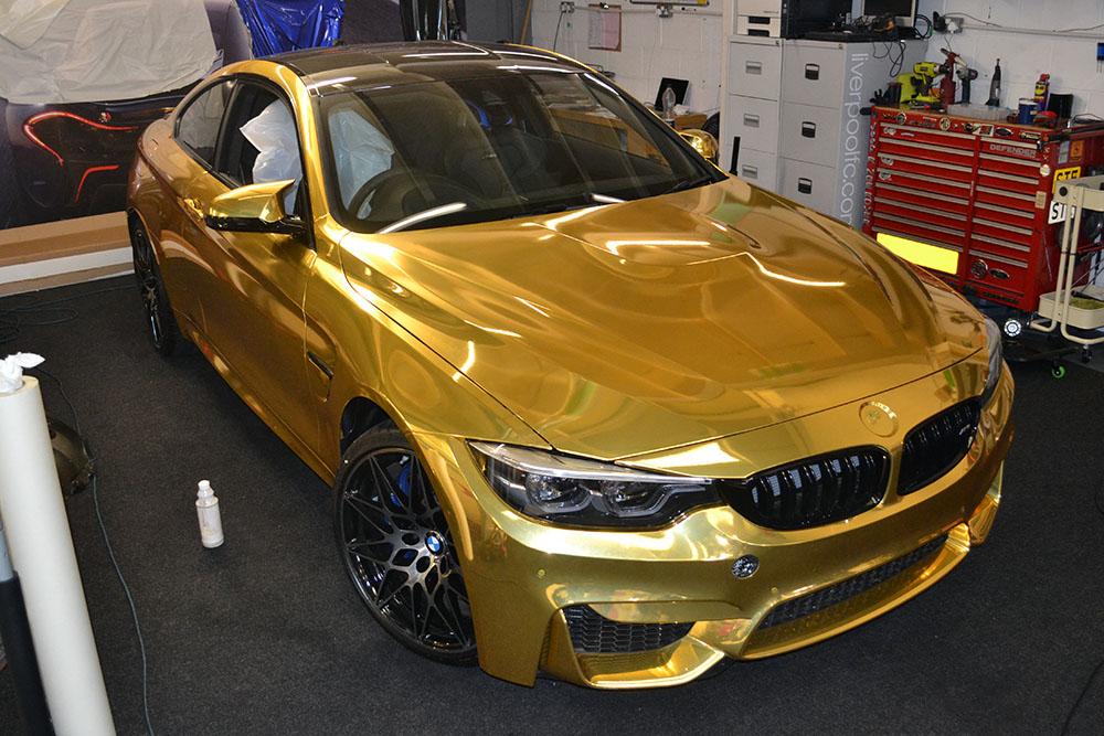 Gold Chrome Car Wrap Cost