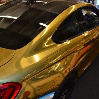BMW M4 Gold Chrome Wrap Workshop