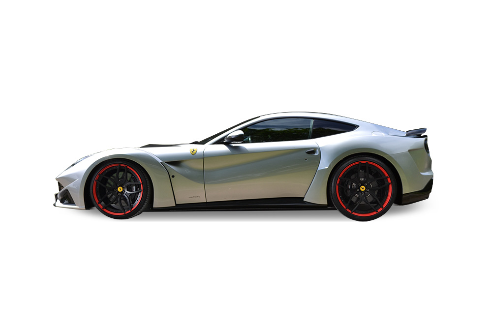 Before-Ferrari F12 Ember Black Wrap