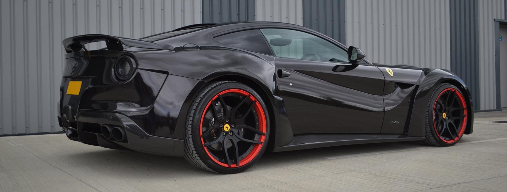 Ferrari F12 Ember Black Wrap Banner