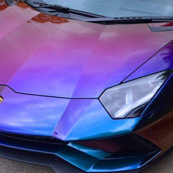 Lamborghini Aventador Wrapped ColorFlow Closeup