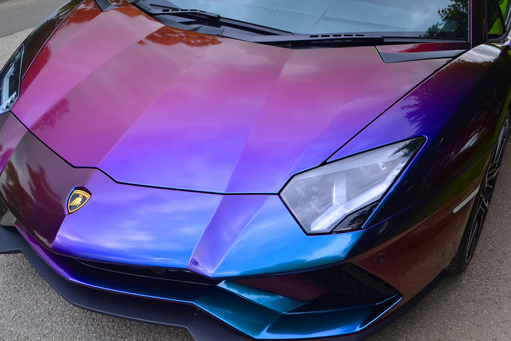 Lamborghini Aventador Wrapped ColorFlow Closeup
