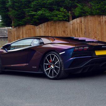 Lamborghini Aventador Wrapped ColorFlow Rushing Riptide Rear