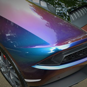 Lamborghini Huracan Wrapped Avery Supreme Rushing Riptide ColourFlow
