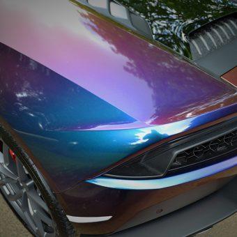 Lamborghini Huracan Wrapped In Rushing Riptide Colourflow