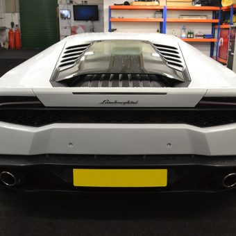 Lamborghini Huracan Wrapped Before White Back