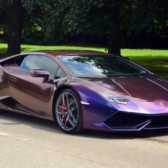 Lamborghini Huracan Wrapped Rushing Riptide Front