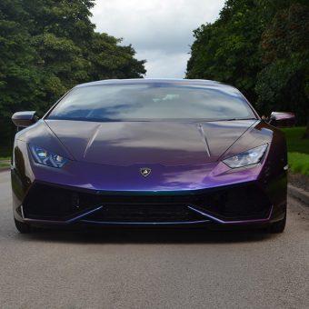 Lamborghini Huracan Wrapped-Rushing Riptide Front Bumper