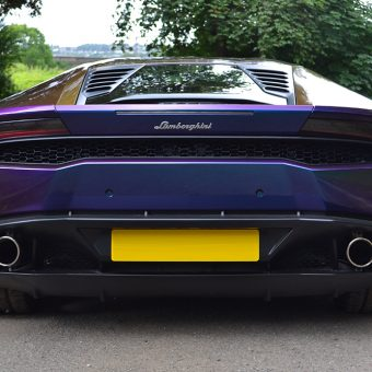 Lamborghini Huracan Wrapped-Rushing Riptide Rear Bumper