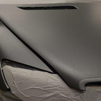 Mercedes CL63 AMG Wrapped Matte Grey Black Bonnet