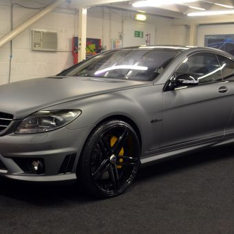 Mercedes CL63 AMG Wrapped Matte Grey Front