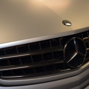 Mercedes CL63 AMG Wrapped Matte Grey Front Grille
