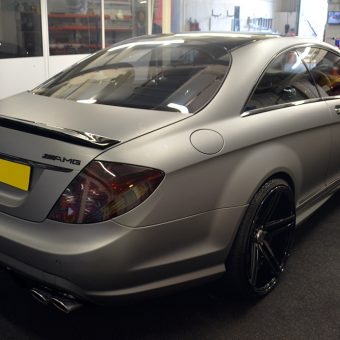 Mercedes CL63 AMG Wrapped Matte Grey Rear