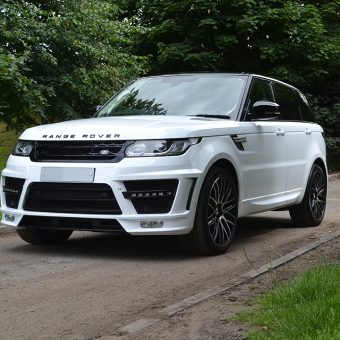 Range Rover Sport Wrap Gloss White Front