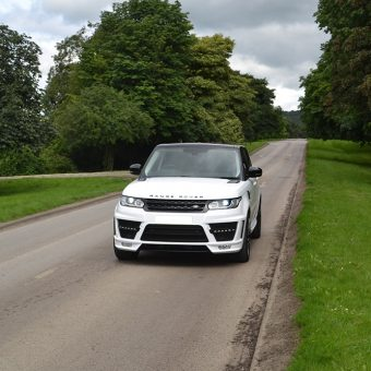 Range Rover Sport Wrap Gloss White Front Lane