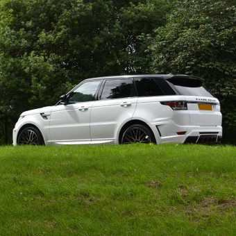 Range Rover Sport Wrap Gloss White Side Rear