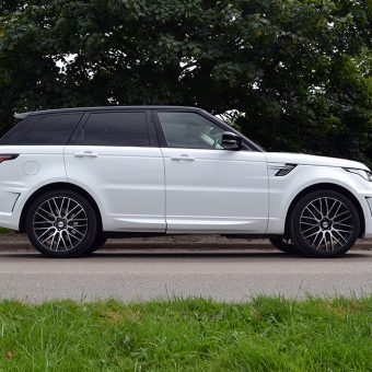 Range Rover Sport Wrap Gloss White Side View