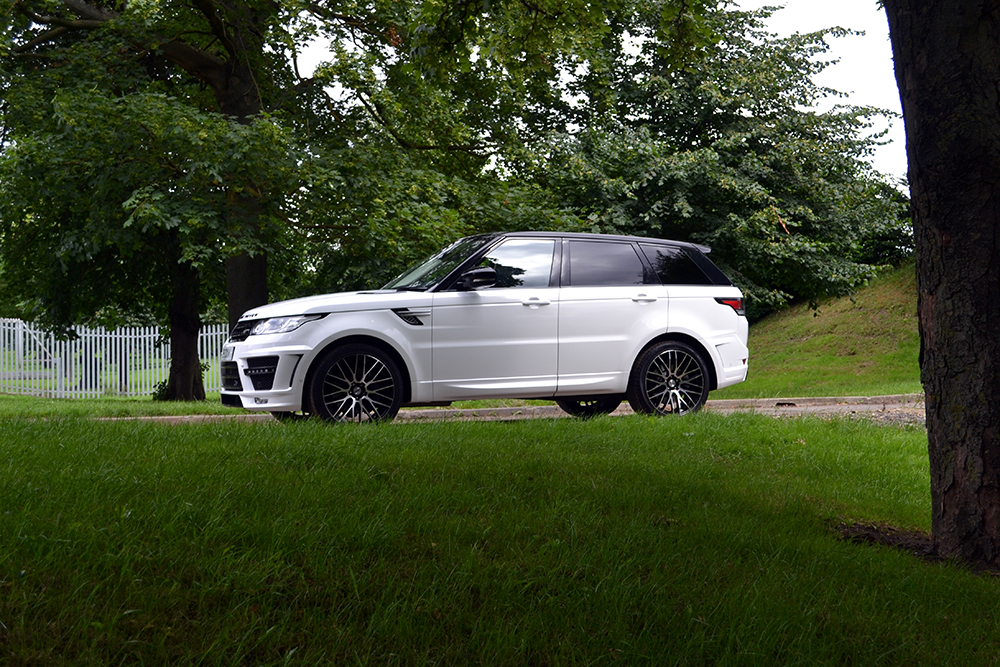 Range Rover Sport Wrap Gloss White Side